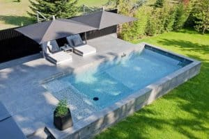piscine semi enterree